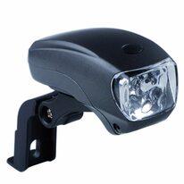 Priekinis žibintas, 5 LED, (juodas)