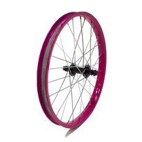"""Priekinis ratas 18"""" rožinis ratlankis, juoda stebulė, 26H"""