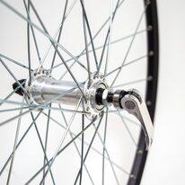 """Priekinis ratas 26"""" STARSCircle J19SZ ratl. aliuminė stebulė, 36H su greitveržle, v-tipo (juoda/sidabrinė)"""
