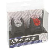 Galinis + priekinis žibintai FORCE Cage