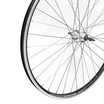 """Galinis ratas 28"""" Rodi Web dvigubas juodas ratlankis, stebulė su užsukamam žv. blokui, V-brake 36H"""