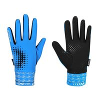 Gloves FORCE Extra spring/autumn (blue/black) S