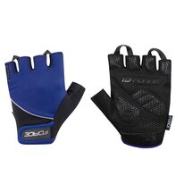 Gloves FORCE Gel II (black/blue)