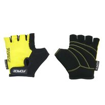 Gloves FORCE Kid Shorty (black/yellow)
