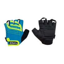 Gloves FORCE Sport (blue/fluorescent) size M