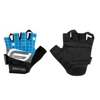 Gloves FORCE Square (black/blue) XL