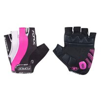 Gloves FORCE Stripes Gel (black/pink/white)