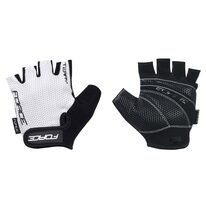 Gloves FORCE Terry (white/black) M