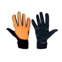 Перчатки KTM FT Winter длинные (черный/оранжевый) размер M
