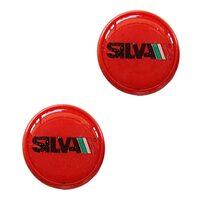 Handlebar end plugs SILVA (red)