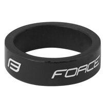 """Vairo kolonėlės žiedas FORCE Logo 1 1/8"""", 10 mm (aliuminis, juodas)"""