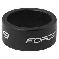 """Vairo kolonėlės žiedas FORCE Logo 1 1/8"""", 15 mm (aliuminis, juodas)"""