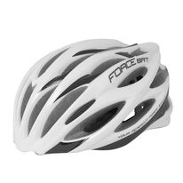 Helmet FORCE Bat 54-58cm S-M (white/black)