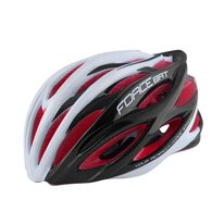 Helmet FORCE Bat 57-61cm L-XL (black/white/red)