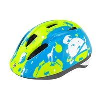 Helmet FORCE Fun Planets 48-54cm S (fluo/blue)