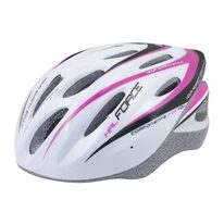 Helmet FORCE Hal 54-58cm S-M (white/pink/black)