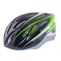 Helmet FORCE Hal 58-62cm L-XL (black/green/white)