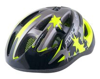 Шлем FORCE Lark 48-54см S (детский, черный/серый/флуоресцентный)