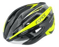 Шлем FORCE Road 58-63cm L-XL (черный/флуоресцентный)
