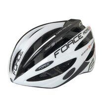 Шлем FORCE Road Pro 54-58cm (S-M) (белый/черный)