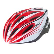 Helmet FORCE Tery 52-58cm S-M (white/red)