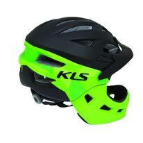 Šalmas KLS Sprout XS 47-52cm (juoda/žalia)
