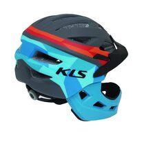 Šalmas KLS Sprout XS 47-52cm (mėlyna/raudona)