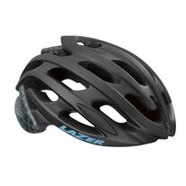 Šalmas LAZER Elle 55-59cm (juoda/mėlyna) + dviratininkės kepuraitė