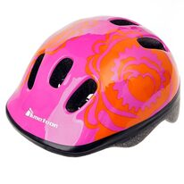 Helmet METEOR MV6-2 Big Flower XS 44-48cm (pink/orange)