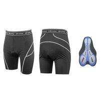 Kelnaitės su paminkštinimu MTB šortams, (juoda) XL