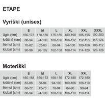 Marškinėliai ETAPE Fortuna (balta/juoda) XL