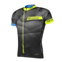 Marškinėliai FORCE Best (juoda/fluorescencinė) XXL