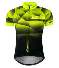 Marškinėliai FORCE Best (fluorescencinė/juoda) S