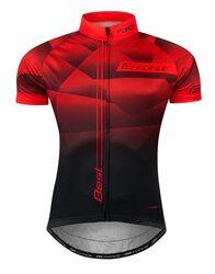 Marškinėliai FORCE Best (raudona/juoda) M