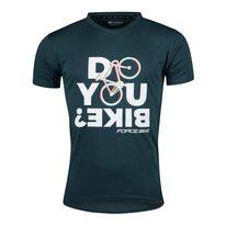 Marškinėliai FORCE Bike, (žali) L