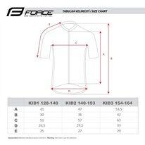 Marškinėliai vaikiški Force KID View, 154-164cm (pilka/balta/juoda)