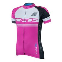 Jersey FORCE LUX short sleeves (black/pink) size M