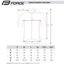Marškinėliai FORCE MTB ANGLE (chaki) XXL