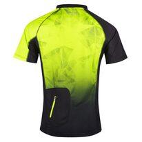 Marškinėliai FORCE MTB Core, (fluorescencinei/juodi) L