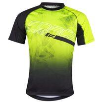 Marškinėliai FORCE MTB Core, (fluorescencinei/juodi) M