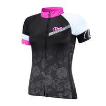 Marškinėliai FORCE Rose (juoda/rožinė) XL