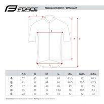 Marškinėliai FORCE Square, (juoda/žalia) S