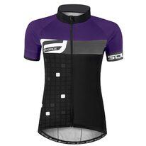 Marškinėliai FORCE Square, (juoda/violetinė) S