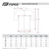 Marškinėliai FORCE Square, (pilka/mėlyna) XL