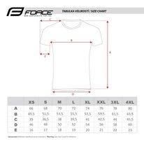 Marškinėliai FORCE SQUARE (fluorescencinė/pilka) M