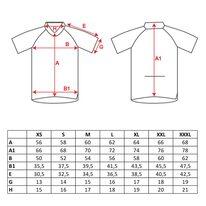 Marškinėliai FORCE T12 (juoda/raudona) XS