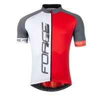 Jersey FORCE T16 (white/red/grey) XL