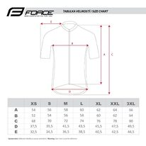 Marškinėliai FORCE View (juoda / balta / pilka) dydis XL