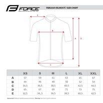 Marškinėliai FORCE Way (juoda/balta/mėtinė) M