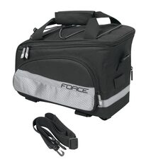 Krepšys FORCE SLIM ant bagažinės 9litrai, juodas